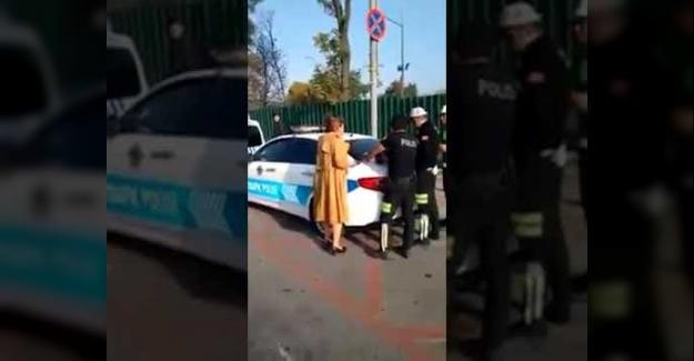 Trafik Cezasına Tepki Gösterip Çığlık Atan Kadınla İlgili Flaş gelişme