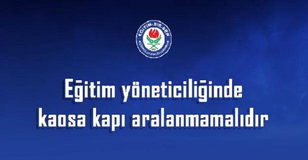 EBS'den Yönetici Atama Tepkisi: Kaosa Kapı Aralanmamalıdır
