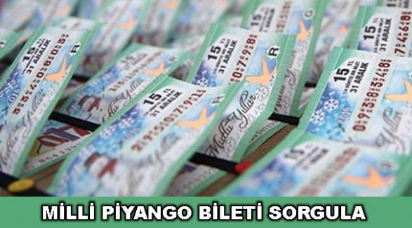 Milli Piyango 2019 yılbaşı çekiliş sonuçları ve bilet sorgula
