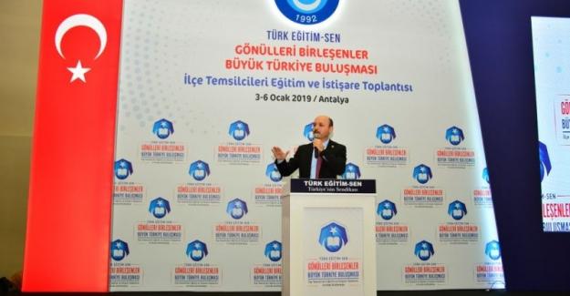 Türk Eğitim Sen Genel Başkanı Talip Gelyan: Ek gösterge sözü yerine getirilmelidir.