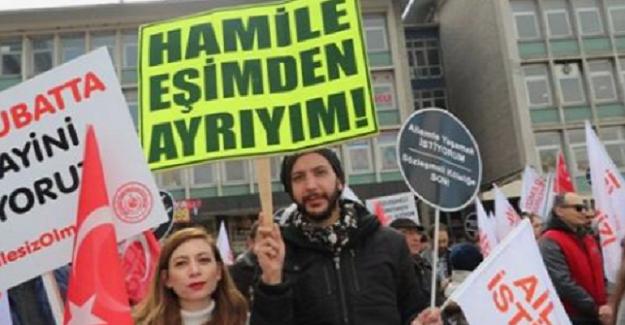 Türk Eğitim Sen Sözleşmeli Öğretmenlere Destek için Rize'den Ankara'ya gittiler.