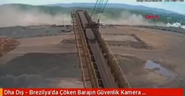 110 Kişinin Öldüğü Barajın Çöküş Anı Kameralara Böyle Yansıdı