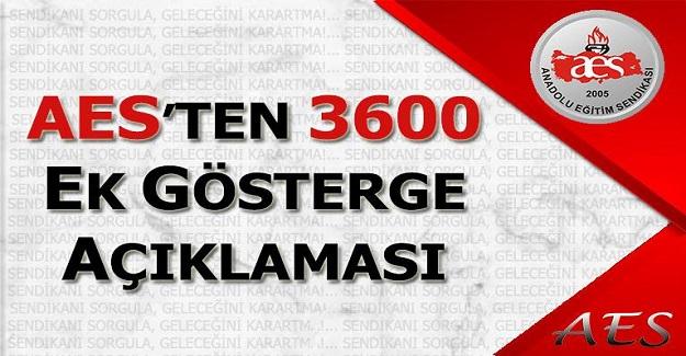 AES 'TEN 3600 EK GÖSTERGE AÇIKLAMASI