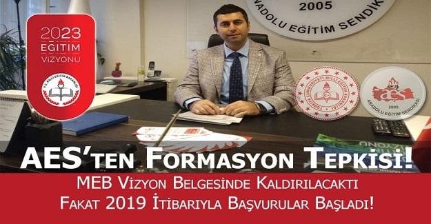 AES'TEN PEDAGOJİK FORMASYON TEPKİSİ