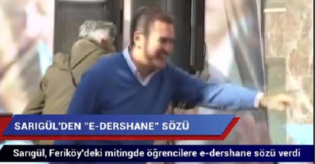 DSP Şişli Belediye Başkan Adayı Mustafa Sarıgül'den Öğrencilere e-Dershane Sözü