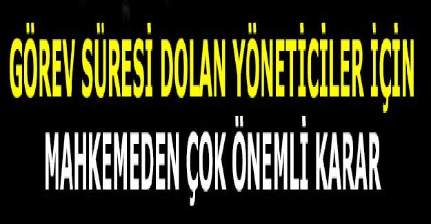 Görev Süresi Dolan Okul Müdürleri Dikkat!