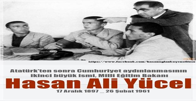 Milli Eğitim Bakanı HASAN ALİ YÜCEL'in anısına saygıyla...