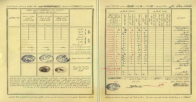 Osmanlı Döneminde Öğrenci Karnesi