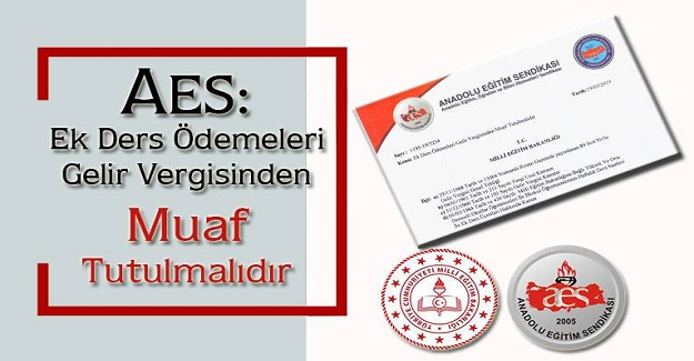 AES: Ek Ders Ödemeleri Gelir Vergisinden Muaf Tutulmalıdır