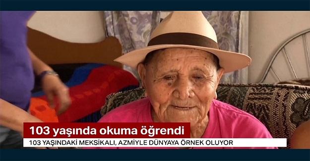 Hayatı Boyunca Çalışmak Zorunda Kaldığı İçin Hiç Okula Gidemeyen Adam 103 Yaşında Okuma Yazma Öğrendi