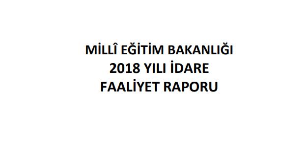 MEB 2018 Faaliyet Raporunu Yayımladı