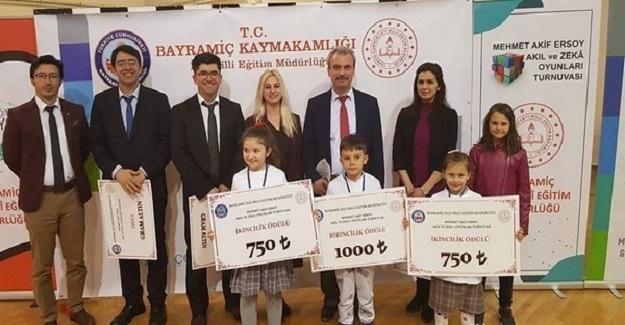 Mehmet Akif Ersoy Akıl Ve Zeka Oyunlarında Geyikli İlkokulunun Büyük Başarısı