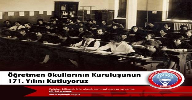 Öğretmen okullarının kuruluşunun 171. yıl dönümü