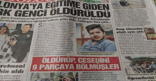 Polonya'da PKK'lı Teröristler Tarafından Öldürülen Öğrenciye Son Görev