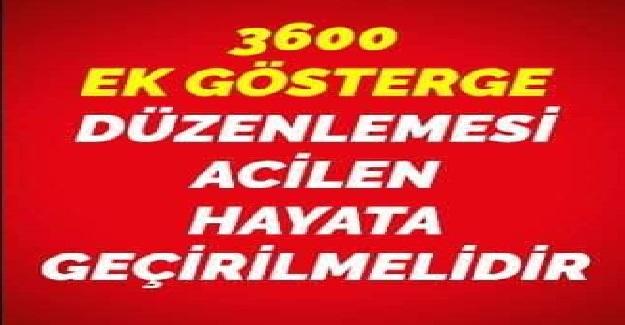 Türk Eğitim Sen Genel Başkanı Talip Geylan'dan Çağrı: 3600 Ek gösterge sözünüzü tutun