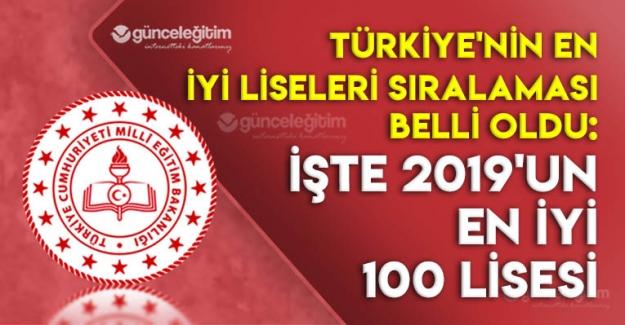 Türkiye'nin En Başarılı 100 Lisesi Belli Oldu: İşte 2019'un En İyi Liseleri