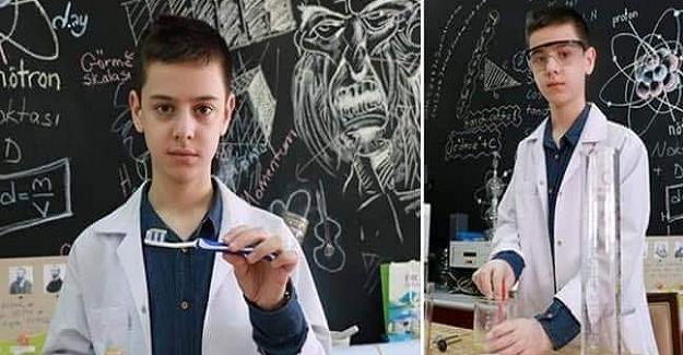 """14 Yaşındaki Çocuğun Büyük Başarısı: """"Muhammet Doğal Diş Macunu Üretti"""""""