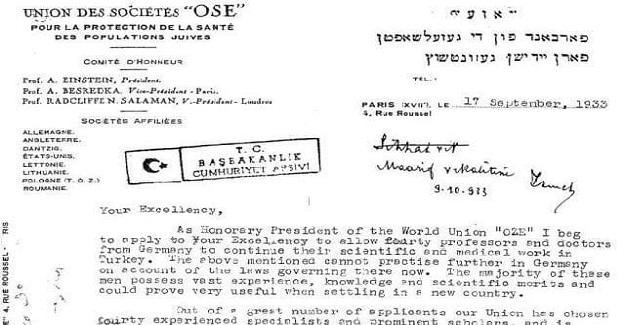 """""""1933 yılında Albert Einstein'ın Atatürk'e mektup yazıp seçilmi"""