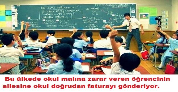 Bu ülkede okul malına zarar veren öğrencinin ailesine okul doğrudan faturayı gönderiyor.