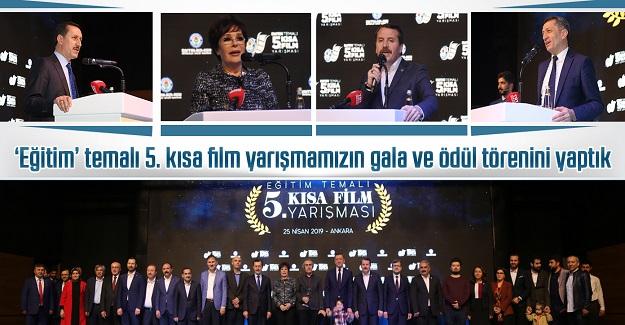 'Eğitim' temalı 5. kısa film yarışmamızın gala ve ödül törenini yaptık
