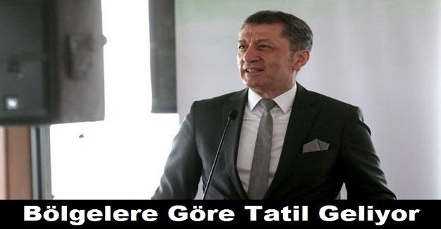 Milli Eğitim Bakanı Ziya Selçuk Açıkladı: Bölgelere Göre Tatil Geliyor