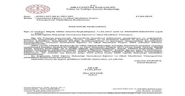 Milli Eğitim Bakanlığı: Okul Meclisleri Yönergesi Kaldırıldı