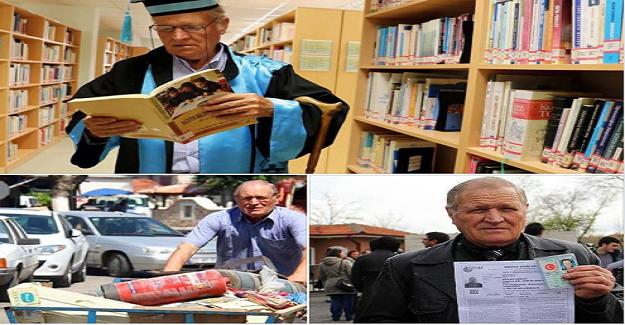Hurdacılık yaparak geçimini sağlayan 75 yaşındaki Şevki Kılıç Fakülteyi 3 yılda bitirdi!