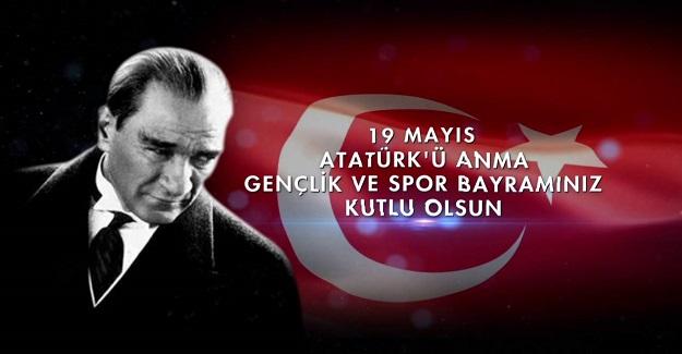 """Türkiye Cumhuriyeti Gençlik ve spor bayramı kutlu olsun""""! """" Tanısaydın çok severdin Atam, bu ülkenin gençlerini..."""