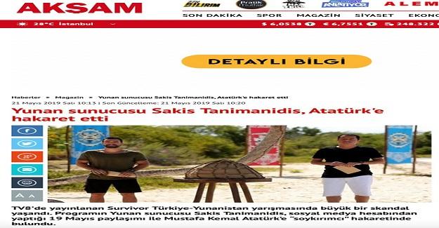 TV8'de yayınlanan Survivor programının sunucusundan Atatürk'e büyük hakaret