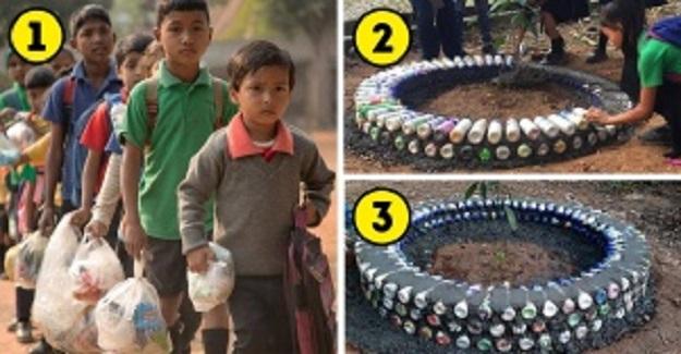 Bu Okul Plastik Atıkları Okul Harcı Olarak Kullanıyor