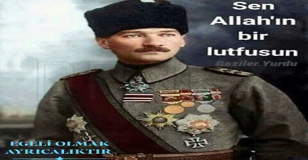 Dünya tarihi bir sıfatın sadece Mustafa Kemal'e verildiğini yazar..