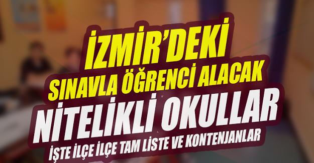 İzmir Merkezi 2019 LGS Puanıyla Öğrenci Alan Nitelikli Liseler