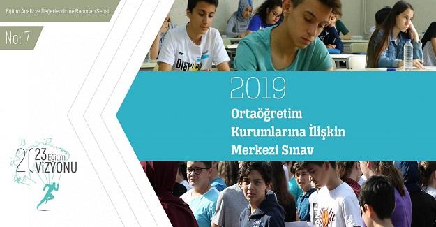 LGS Ortaöğretim Kurumlarına İlişkin Merkezi Sınav Raporu