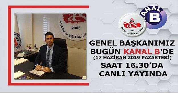 MEHMET ALPER ÖĞRETİCİ KANAL B'DE (17 HAZİRAN 2019 PAZARTESİ) SAAT 16.30'DA CANLI YAYINDA