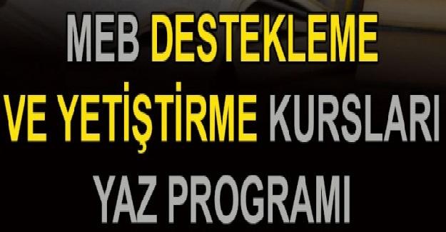 Milli Eğitim Bakanlığından Destekleme Ve Yetiştirme Kursları (DYK) Yaz Programı