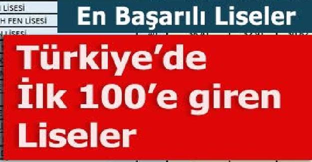 Türkiye'nin en iyi 100 lisesi belli oldu