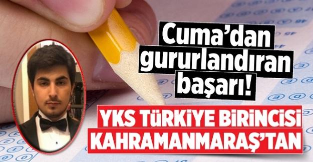 Elbistanlı Cuma Taş, YKS'de 500 Tam Puan Yaparak Türkiye Birincisi Oldu