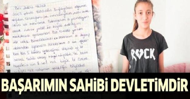 LGS'de Derece Yapan Zeliha Yıldız'dan Bakanlığa Mektup