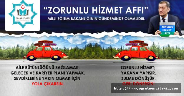 ZORUNLU HİZMET AFFI !