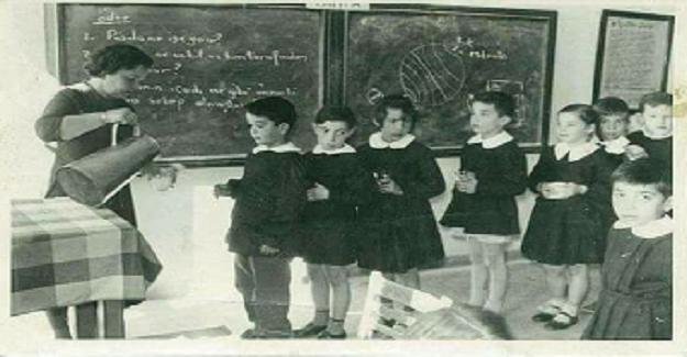 1955-60'lı yıllar, Ankara'da bir ilkokul...