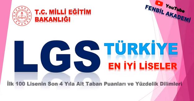 2019 Yılı Türkiye'nin En İyi Liseleri Sıralaması