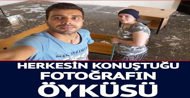 Eşiyle Birlikte Okulu Temizleyen Öğretmenin Görüntüleri Sosyal Medyada Olay Oldu