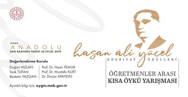 Hasan Ali Yücel Edebiyat Ödülleri kapsamında Öğretmenler Arası Kısa Öykü Yarışması düzenlendi