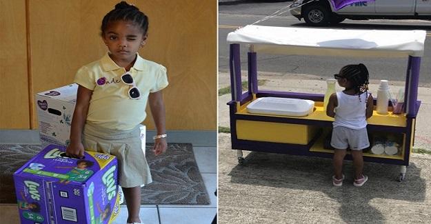İhtiyaç Sahibi Annelere Bebek Bezi Almak İçin Limonata Satan Küçük Kız