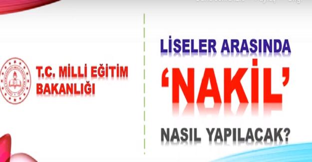 LİSELER ARASI NAKİL NASIL YAPILIR 2019 - 2020