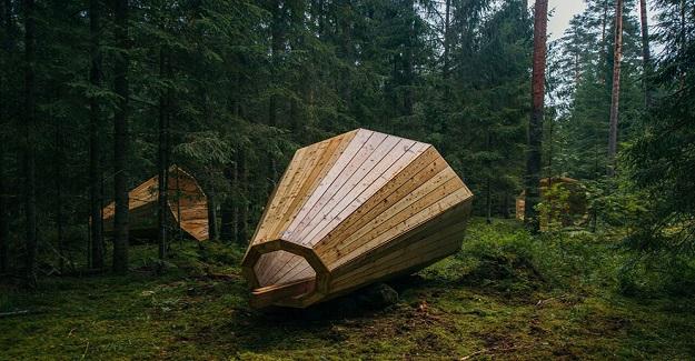 Öğrenciler Ormanı Dinlemek İçin Dev Ahşap Megafonlar Yapıyor