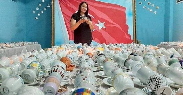 3 Bin Kahve Fincanı İle Guinnes Rekorlar Kitabına Girmeye Aday Öğretmen
