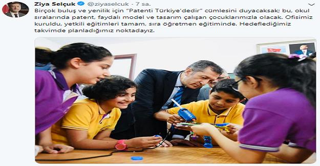 """Bakan Selçuk: Birçok buluş ve yenilik için """"Patenti Türkiye'dedir"""" Cümlesini Duyacaksak"""