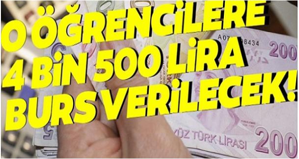 Bakan Açıkladı: Bu Öğrencilere 4 Bin 500 Lira Verilecek