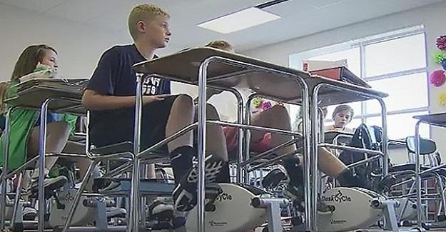 Bu Öğretmen Pedallarla Öğrencilerin Konsantrasyonunu Sağlıyor